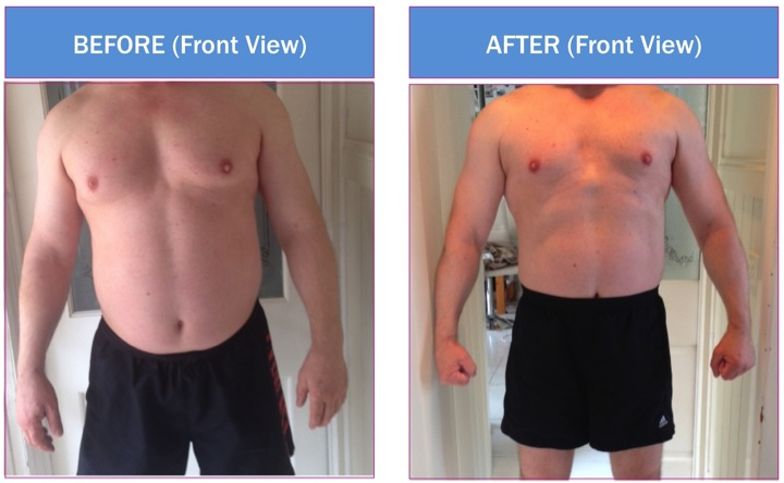 Typical weight loss is 5-7kg with 3 weeks on the HCG Diet, however males do then to lose more, with this patient losing 8+kg in that time.